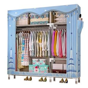 Multifunctional non-woven storage wardrobe locker, folding portable cloth wardrobe dust cover home furniture