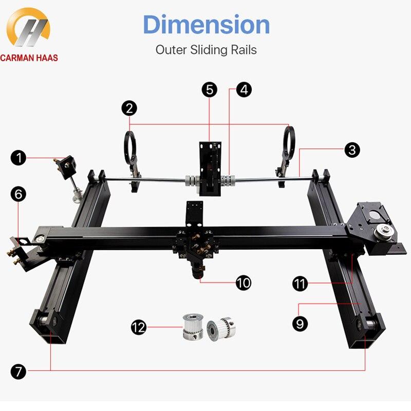 Mechanical Parts Set 600mm*900mm Single Head Laser Kits External Slide CO2 Laser 6090 CO2 Laser Engraving Cutting Machine enlarge