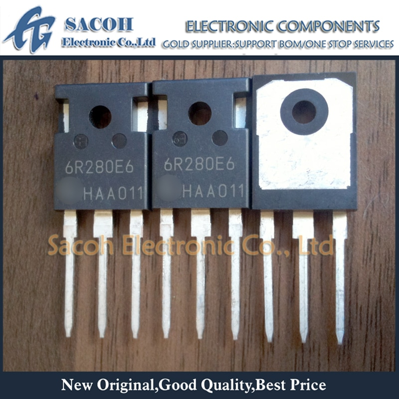 Envío gratis 10 Uds IPW60R280E6 6R280E6 IPW50R280CE 5R280CE-247 13.8A 600V MOSFET de potencia