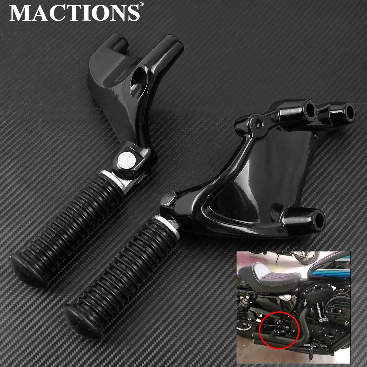 Estribos traseros para pasajero para motocicleta Pedal negro para Harley Sportster Iron 883 1200 XL 48 72 SuperLow 2014-2019