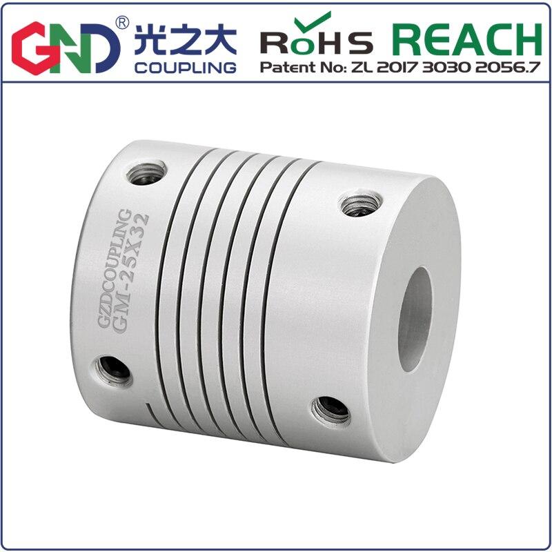 50 Uds. Al por mayor acoplador flexible de aluminio de alta rigidez serie de líneas paralelas acoplamiento GM D19.4mm L24.5mm para servomotor CNC