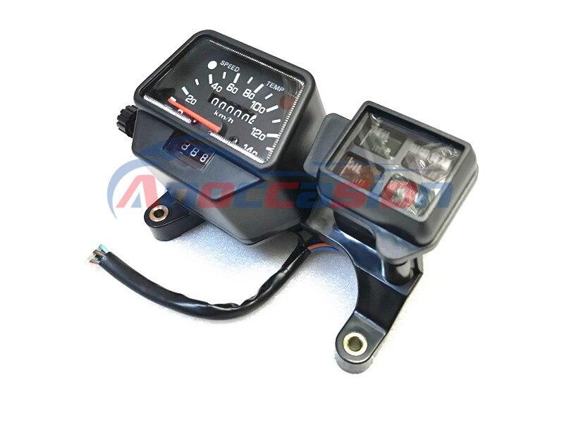 Instrumento da motocicleta relógio velocímetro velocidade instrumento calibres tacômetro odômetro caso tabela para yamaha dt125r dt200r dt200wr