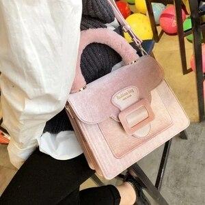 NEW Women Shoulder Bag Velvet Handbag Brands Design Luxury Famous Designer Crossbody Bag Bolsa Feminina High Quality