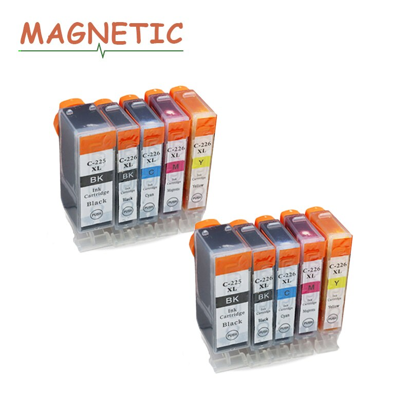 10x Inkt Cartridge PGI225 PGI-225 Voor Canon Pixma MG6120 MG6220 MG8220 MG8120 MG8120B Printer Vol Inkt Pgi 225 Cli 226