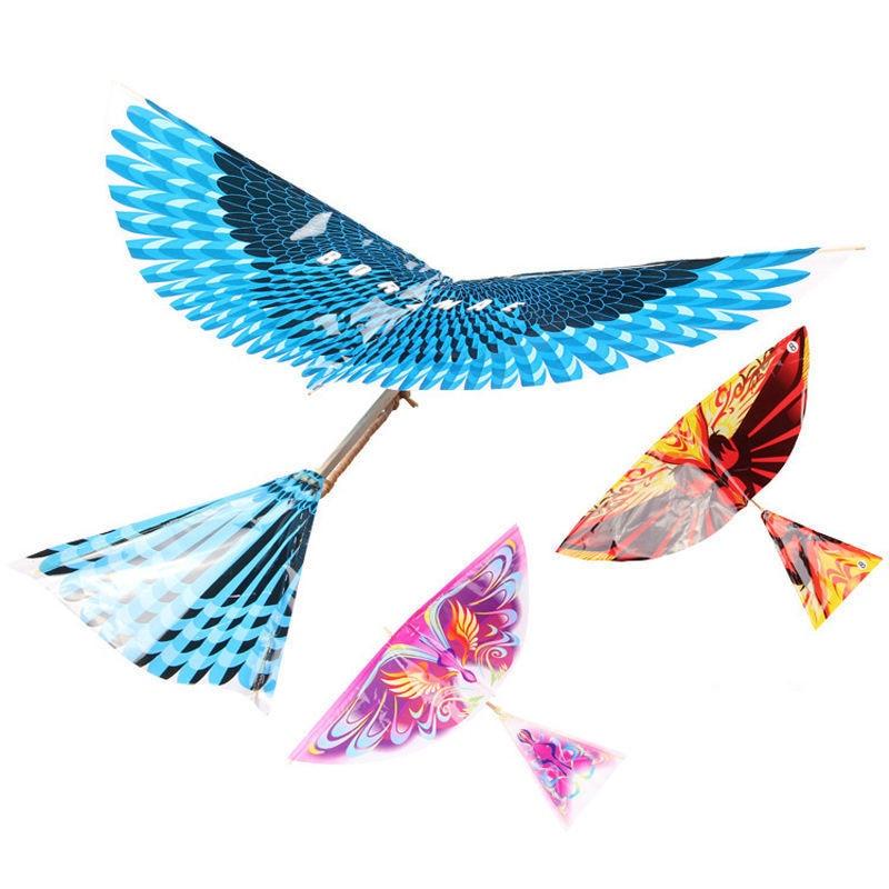 Criativo Adultos Crianças Handmade DIY Biônico Air Plane Modelo Aves Ciência Pipas Brinquedos Ao Ar Livre Brinquedos Clássicos Grande Tamanho Cor Aleatória