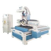 Machine de routeur de CNC pneumatique 1325 machines de coupe de bois Multi têtes découpant des meubles en bois