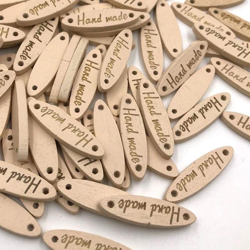 10/50/100pcs Handmade Wood Buttons DIY Craft Sewing Cards Scrapbook WB427