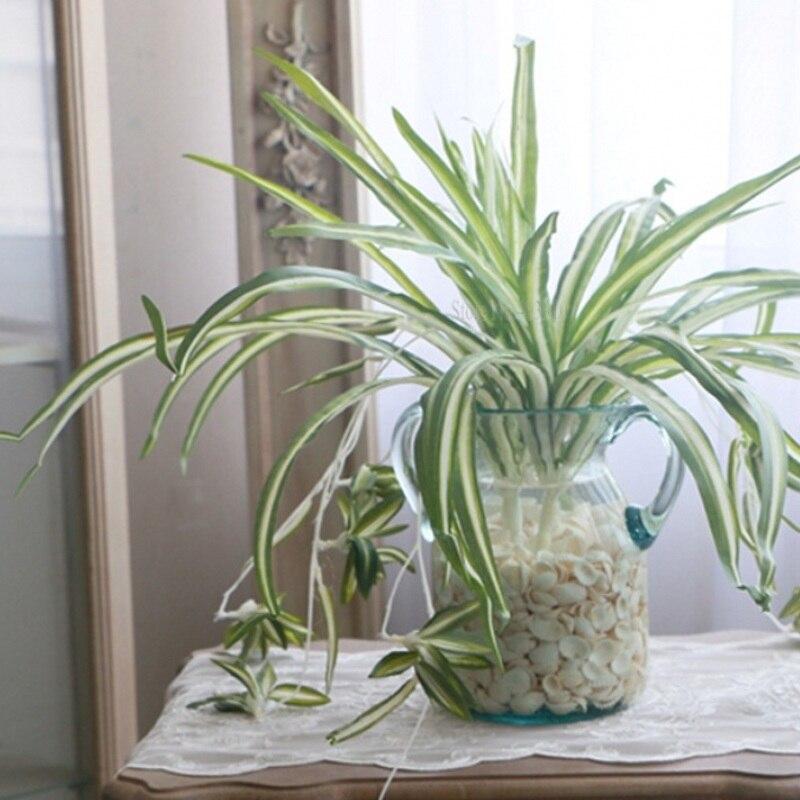 1 unidad de Chlorophytum Comosum planta araña Artificial para decoración de Hotel o casa