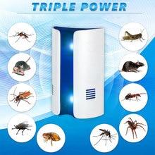 Répulsif électronique ultrasonique multifonction   100 pièces, Type pain, répulsif souris, répulsif souris insectes de lit, répulsif moustiques, tueur dinsectes