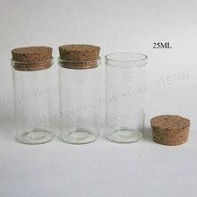 360x25 ml vide Tube de verre Transparent avec bouchon de liège clair verre bouchon de liège bouteilles flacons échantillon pot clair conteneurs