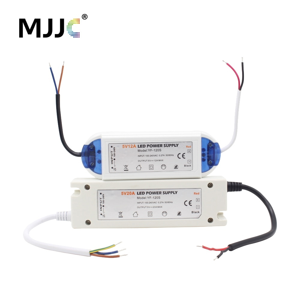 5V Power Supply 12 Volt LED Driver AC 110V 220V to DC 5 Volt Power Adapter 12V 18W 28W 48W 60W 72W 100W Lighting Transformer недорого