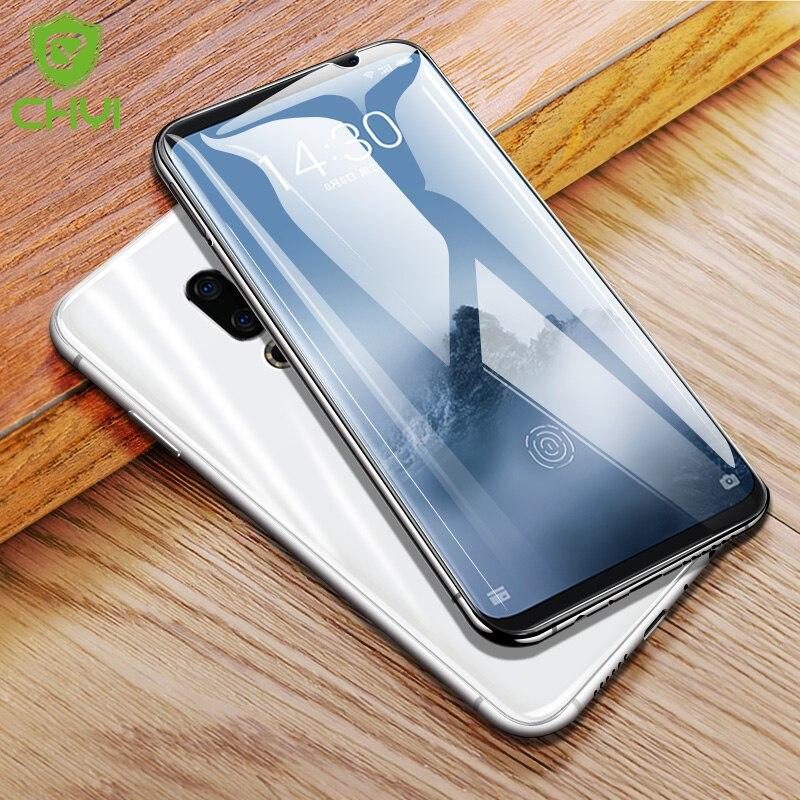 Chyi 3d curvado para meizu 16th m882h m1882 protetor de tela meizu 16 plus m892q m1892 filme de cobertura completa com ferramenta não vidro temperado