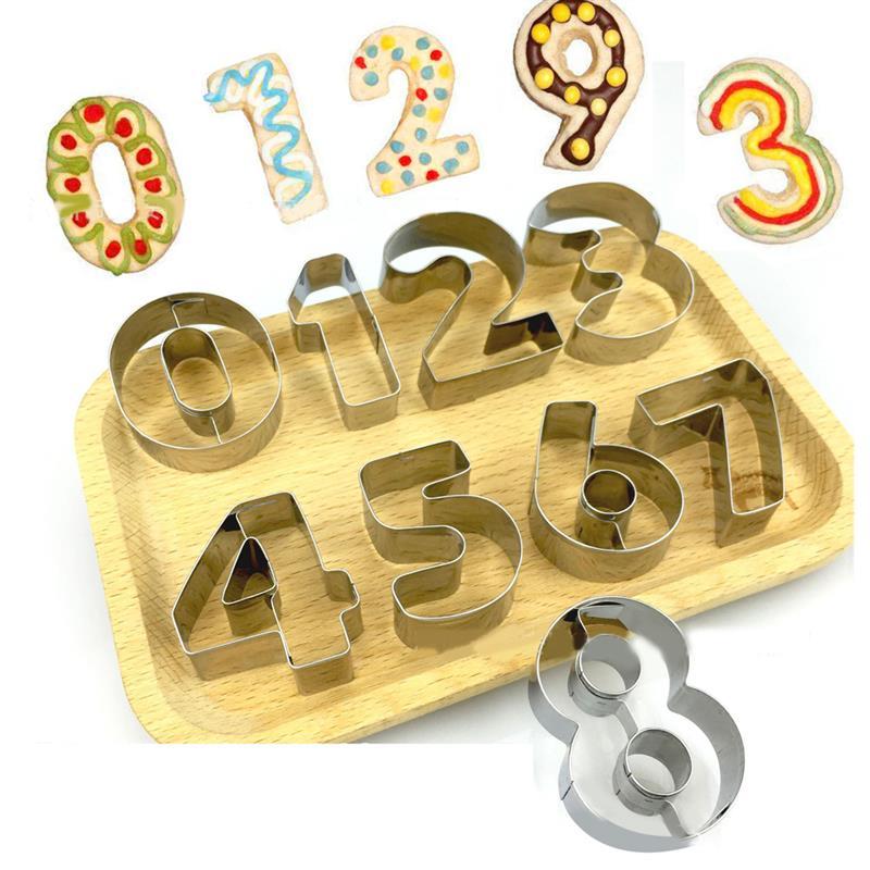 9 шт. резак для печенья номер 0-8 форма резак для печенья DIY помадка резак для фруктов DIY Инструменты для выпечки Нержавеющая сталь форма для печенья