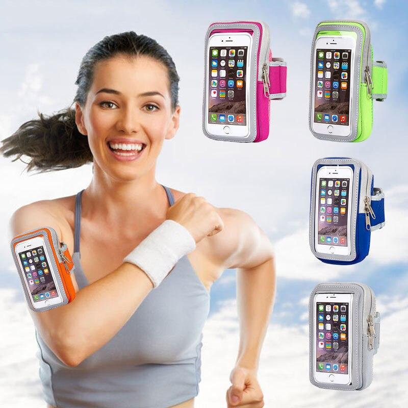 Diseño contraído Color caramelo la bolsa de brazo deportivo móvil es delgada y transpirable, adecuada para HUAWEI XIAO de 4-5 pulgadas 5-6 pulgadas i7/8