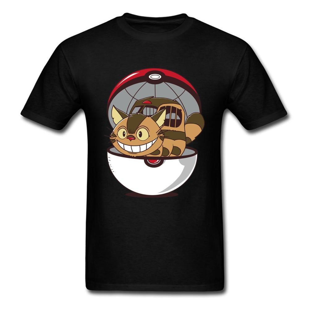 Poke gato autobús divertido T camisa vecino Totoro camiseta de anime Pokeball camiseta ropa de pokemon monstruo de bolsillo camiseta Top