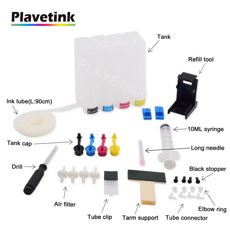 Plavetink Sistema de Abastecimento Contínuo de Tinta Para HP 300 XL Cartucho De Tinta Deskjet 300XL F4500 Série F4580 F4583 Tanque Ciss Com broca