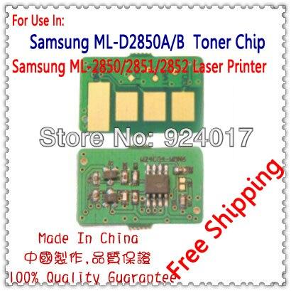 Para Samsung ML-D2850A ML-D2850B Chip Do Cartucho de Toner, Para Samsung ML 2850 2851 2852 2450 ML-2850 ML-2851 ML-2852 Chip De Toner
