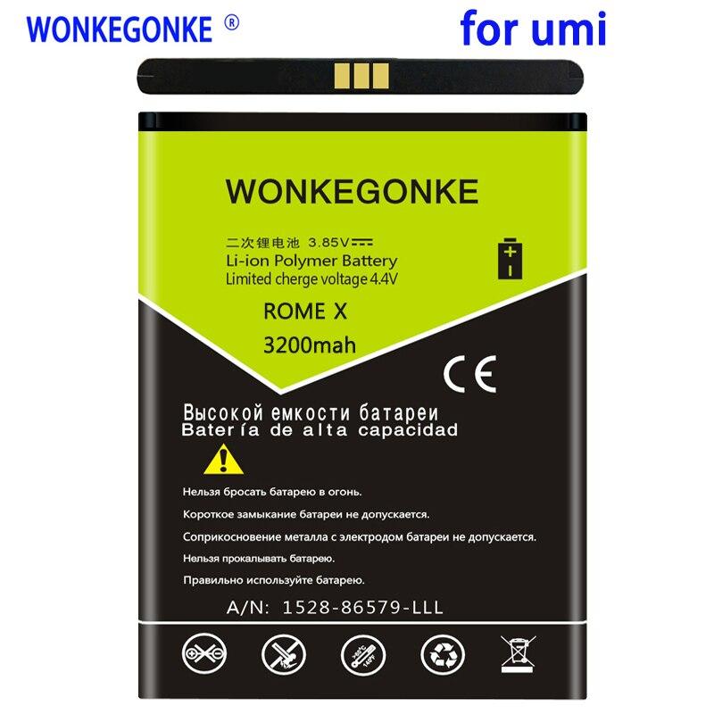 WONKEGONKE 3200mah para Umi Roma batería para UMI Roma X ROMEX Smartphone de batería