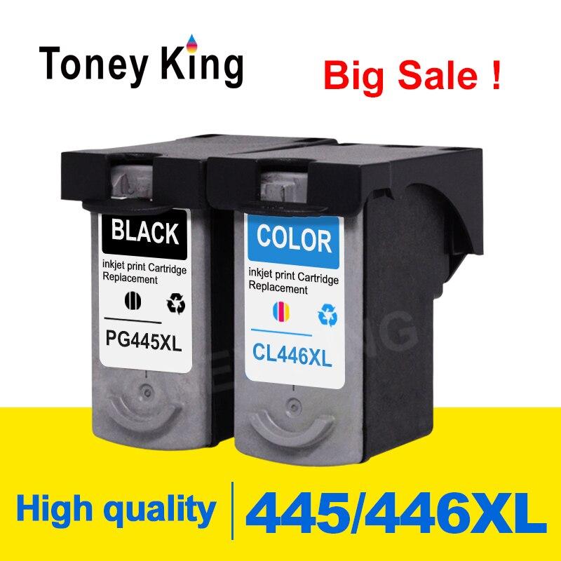 Toney rey PG445 cartucho de tinta PG 445 CL446 CL 446 para Canon pixma MX494 MG2440 MG2540 MG2940 MG2942 MG2944 IP2840 impresora