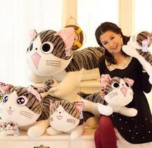 Kawaii chis doux fromage maison chat oreiller en peluche jouets doux chat en peluche chat oreiller coussin pour se pencher