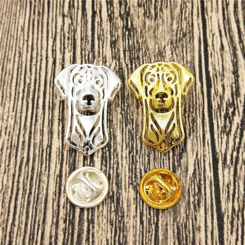 ¡Venta al por mayor! Alfileres lindos para perro dóberman Pinscher broches alfileres para mujeres Collar Pin joyería ropa insignia accesorios de regalo para hombres