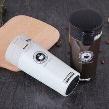Tasses à café en acier inoxydable 380ml   Bouteille deau isolée gobelet Thermos tasse sous vide, tasse à café de voyage Premium