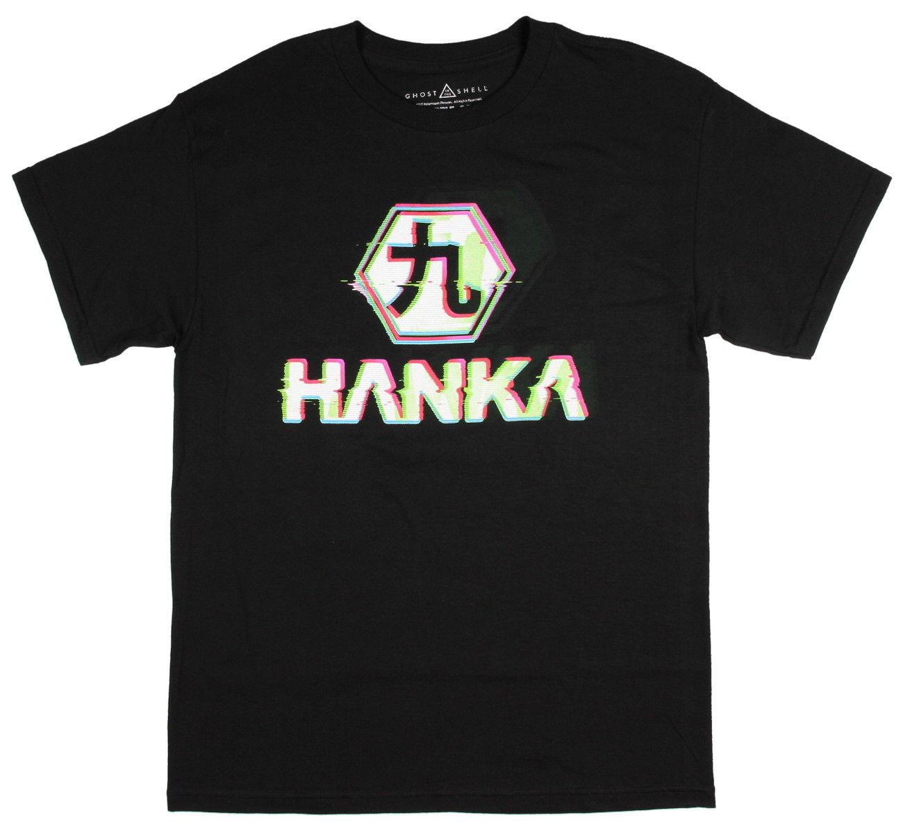 2019 neueste Brief Drucken Ghost In The Shell Hanka Robotik Japanischen Seinen Manga Männer T-shirt T-shirt Casual Mann tees