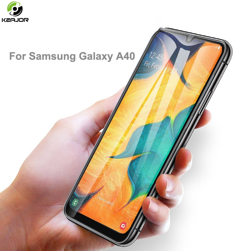 Vidrio Keajor para Samsung Galaxy A40 A60 A70 cubierta completa de vidrio templado película de protección para Samsung A40 vidrio protector