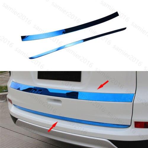 2x mavi Fit için Honda CRV CR-V 12-16 çelik arka kamyon bagaj kapağı kapak Trim şerit