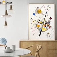 geometry design wassily kandinsky art canvas print painting poster wall pictures for living room home decor wall decor