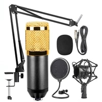 haweel mic kit condenser microphone with adjustable mic suspension scissor arm shock mount and double layer pop filter
