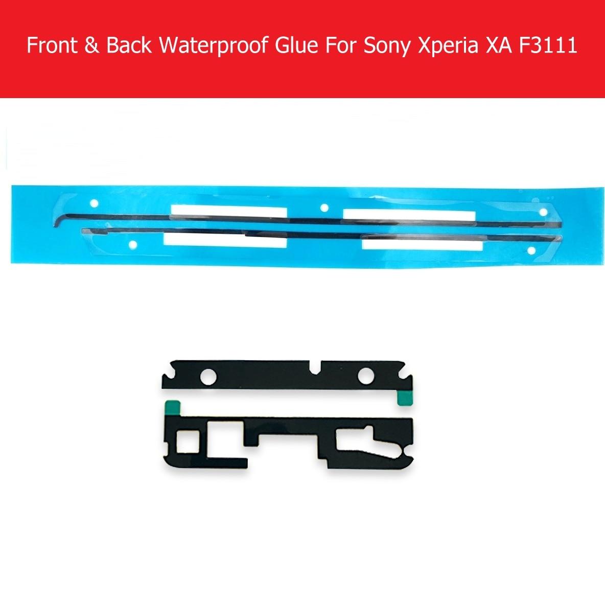 Marco de panel de pantalla LCD y cubierta trasera, pegatina impermeable para Sony Xperia XA F3111 F3113 F3115, pegamento adhesivo impermeable de reemplazo