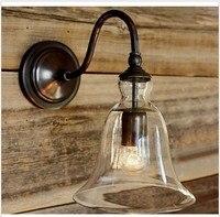 Fashion loft europe vintage Wall Lamp Bedroom Multithread Bedside Lamps Study Light