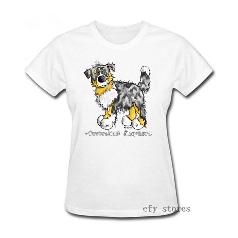 2019 ropa casual de verano caliente perro australiano camiseta para mujer bonito regalo para los amantes de los perros australianos camiseta de ocio de las mujeres