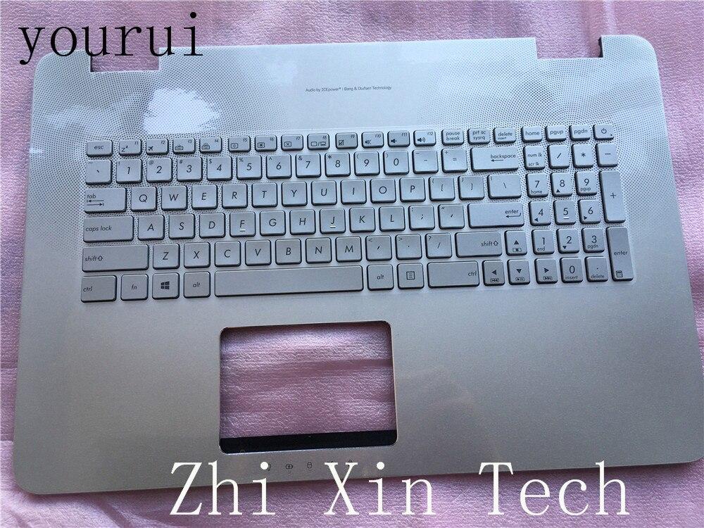 Yourui ل Asus N751 N751JX N751JK N751J G771 GL771 palmrest الأعلى C حالة قذيفة الخلفية معنا لوحة المفاتيح