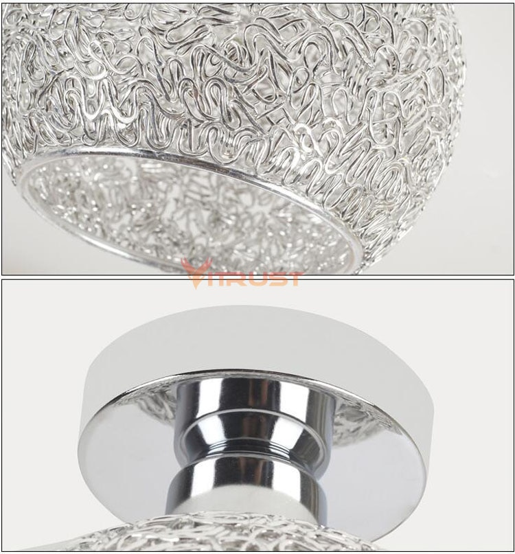Classical E27 Surface Mount LED Ceiling Lamp Mini Led Ceiling Light Energy Saving Dome Lamp Chrome Finish Flush Mounted  - buy with discount
