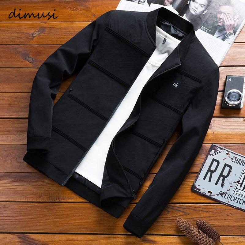 DIMUSI chaquetas para hombre primavera otoño Casual abrigos de color liso para Hombre Ropa Deportiva chaquetas de béisbol Slim cazadora masculina 4XL, YA845