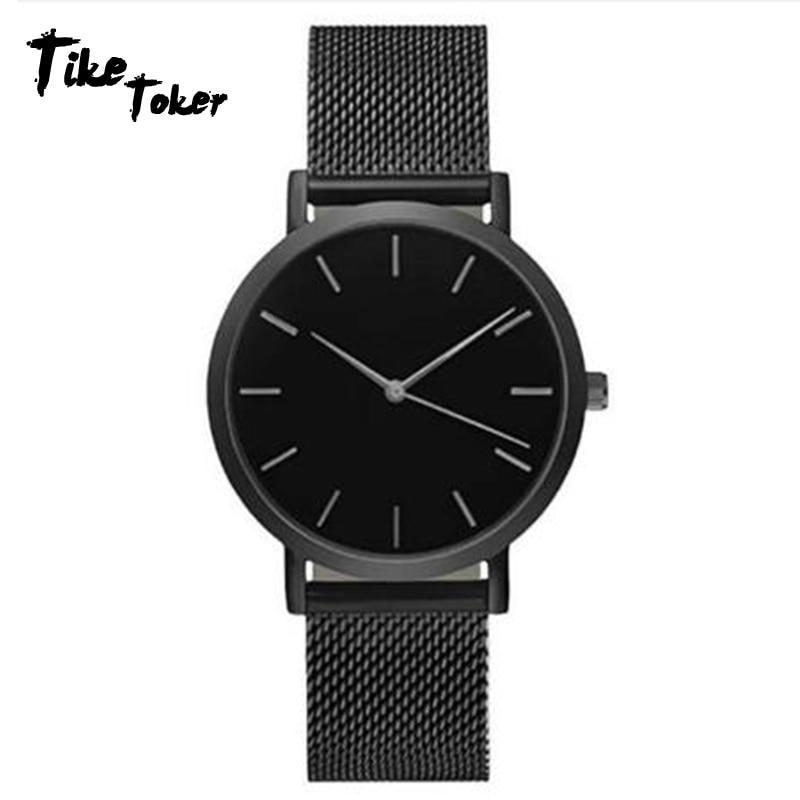 Tike Toker,Splendid Fashion Women Crystal Stainless Steel Analog Quartz Wrist Watch Bracelet Dress W