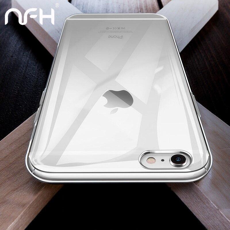 Ultra fino claro silicone caso para iphone 8 7 6s mais casos tpu macio capa para iphone 6s x xs xr 11 pro max caso de telefone