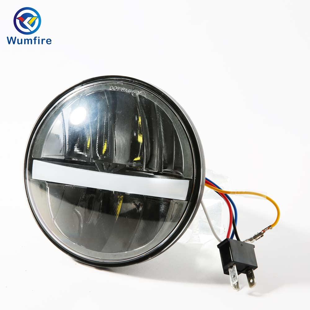 """Faro delantero LED de 5,75 pulgadas para motocicleta HONDA VTX 1300 1800 motocicletas 5 3/4 """"faros Led"""