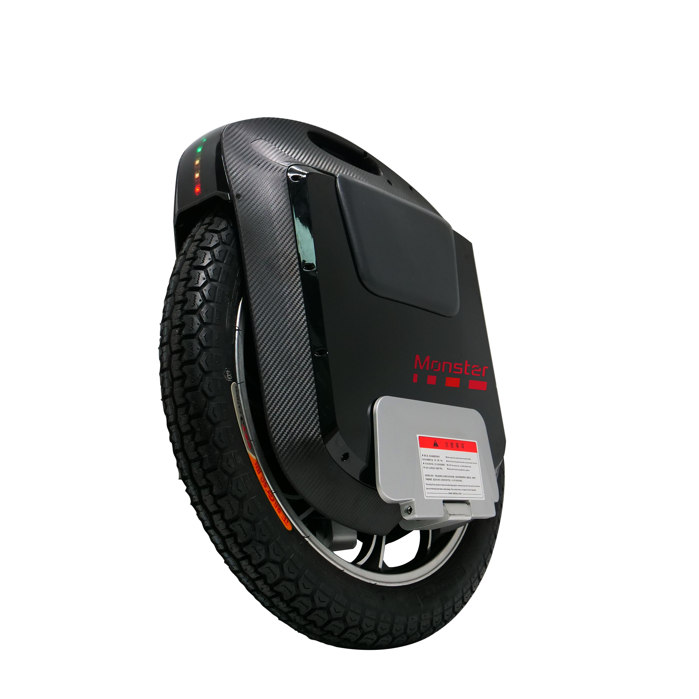 ¡Novedad de 2020! Monster V3 de gottway, monociclo eléctrico 84V/2400WH 2500W, Altavoz Bluetooth negro de carbono de 22 pulgadas, tacón único de 65 KM/H +