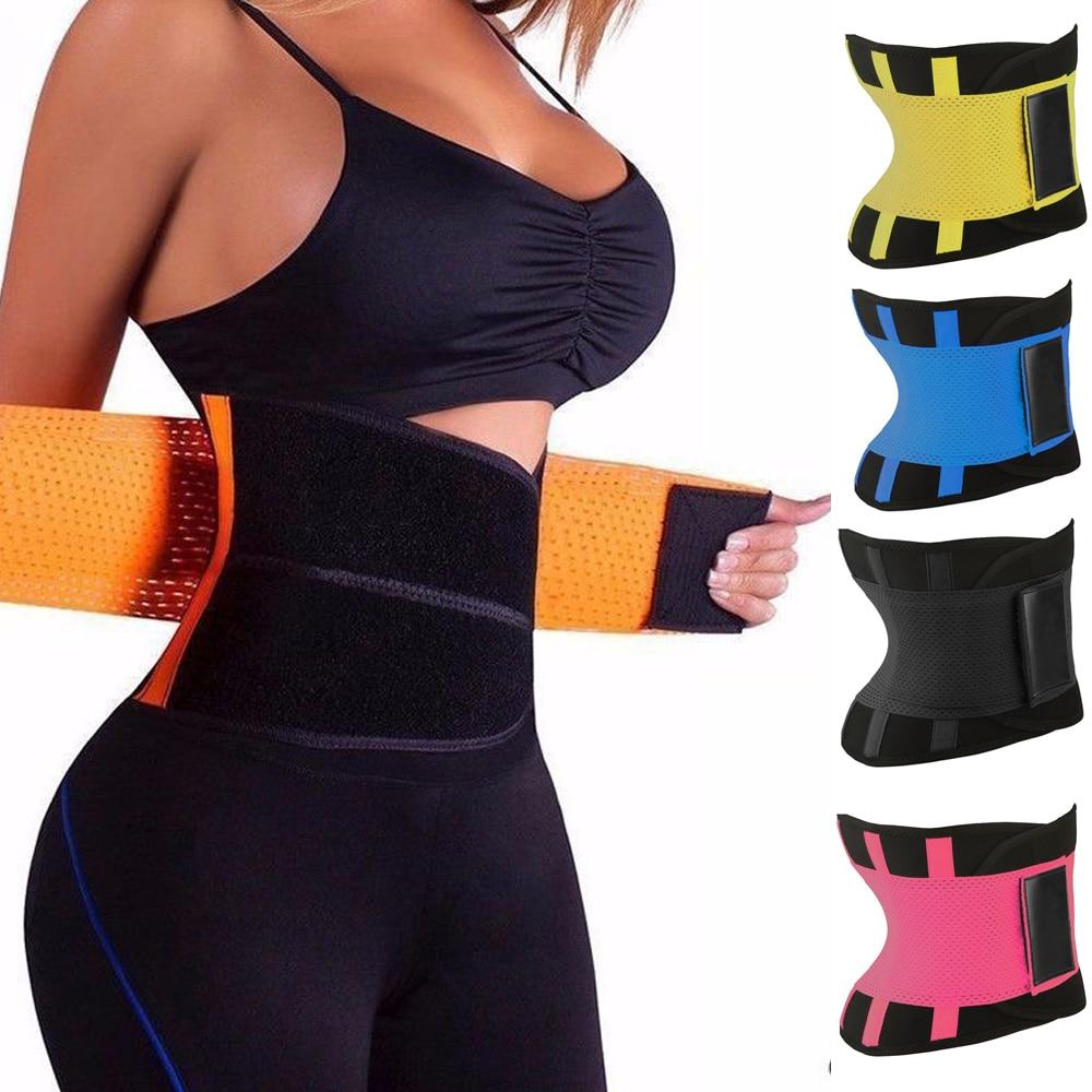 Ultra Sweat Waist Support Belt Women Slimming Body Shaper  Waist Trainner Tummy Control Colombian Girdles Velcro Waist Trimmer