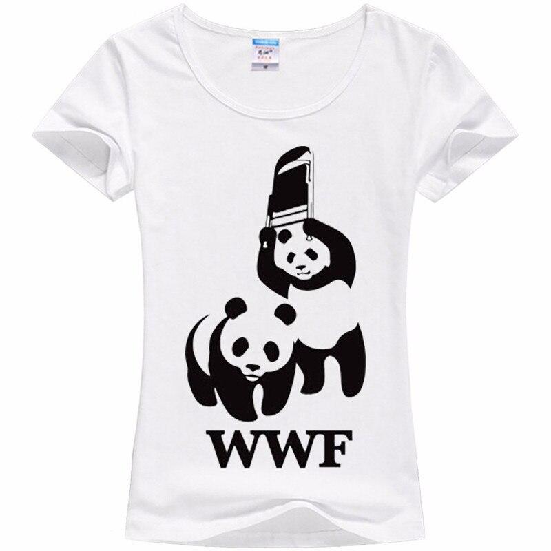Wwf panda impresso manga curta harajuku mulheres t camisas novas 2020 mma casual t camisa feminina leite seda topos bonito dos desenhos animados 386 #