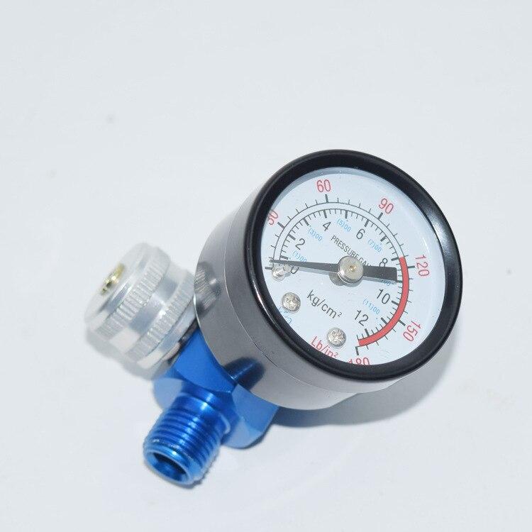 Nuevo manómetro de presión de aire con filtro HVLP pulverizador regulador reloj para ajustar la pintura a presión