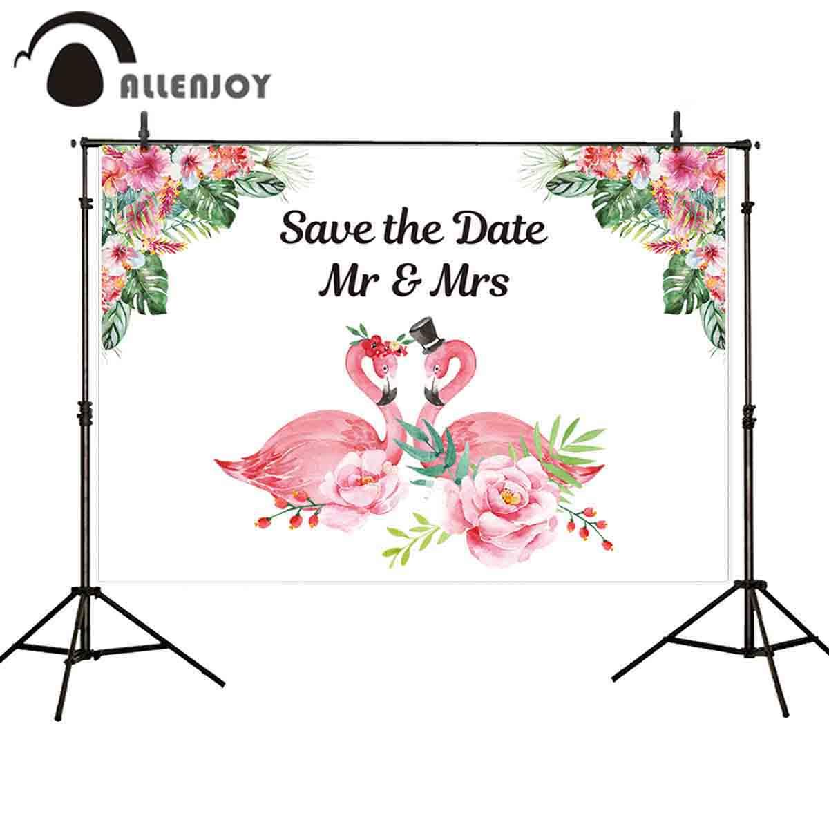 Allenjoy foto de Fondo Flamenco boda tropical flor personalizada fotografía telón de...