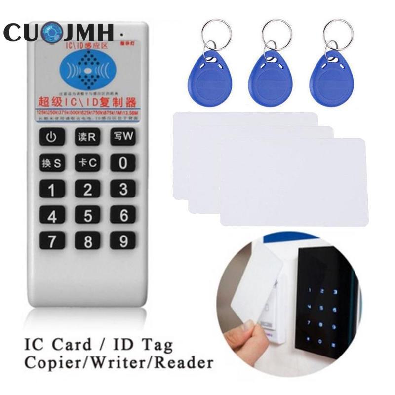 1 Juego de máquina copiadora Pvc Color blanco 13,56 mhz Rfid Id/ic Nfc lector de tarjetas resistente al agua Durable Intelligence máquina todo en uno