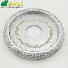 DIATOOL 4pcs Dia75mm Vacuum Brazed Diamond CONVEX Wheel Profile Grinding Wheel For Stone ArtificialStone Ceremics Glass Concrete