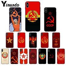 Yinuoda Union soviétique drapeau urss Silicone TPU coque de téléphone souple pour Apple iPhone 8 7 6 6S Plus X XS MAX 5 5S SE XR couverture