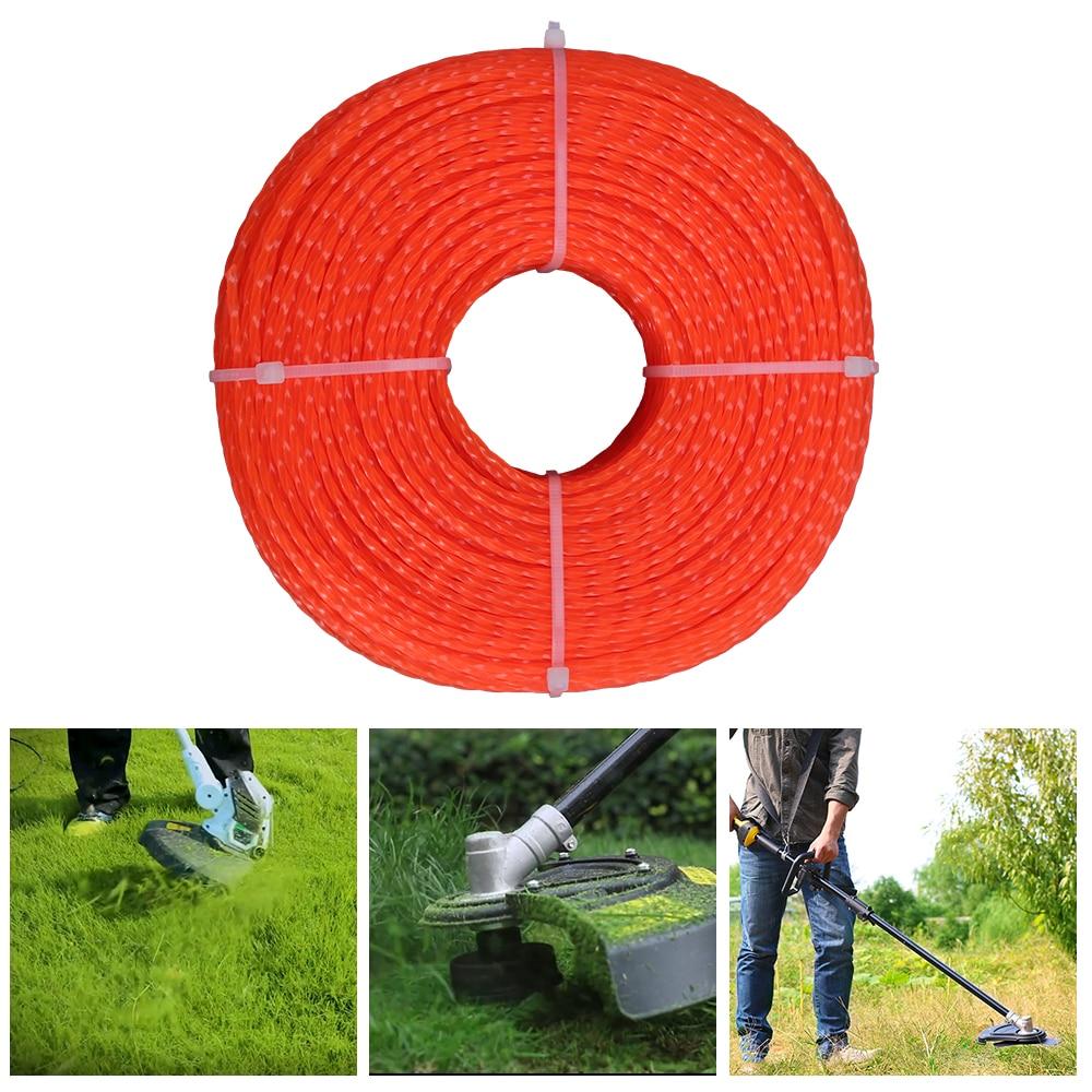 Cortacésped de Nylon profesional de 100 m de 2,4mm cortacésped cortador de cuerda con forma de línea de giro accesorio