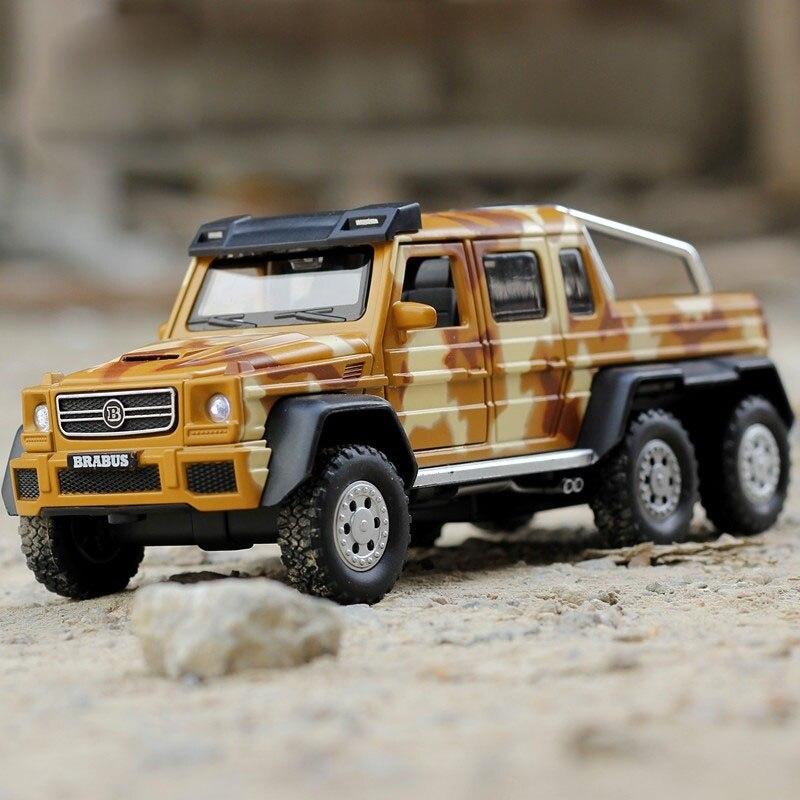 AMG G63 6X6 Die-cast Modelo de Automóvel Modelo de Carro de Brinquedo Escala 132 luz & som Presentes para crianças